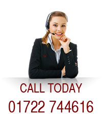 Call us today on 01722 744616